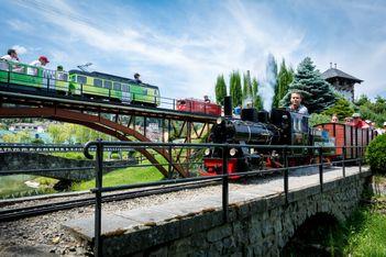 Trains à vapeur miniatures au Bouveret