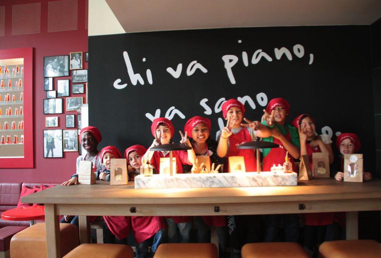 Vapiano kids activit for Atelier cuisine lausanne