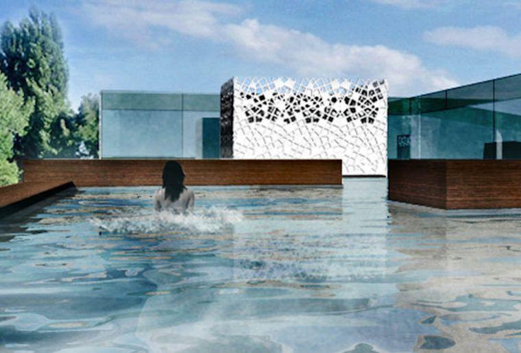 bain bleu hammam spa gen ve plage activit. Black Bedroom Furniture Sets. Home Design Ideas