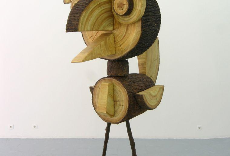 Vincent Kohler, Woody, 2009, Résine, polystryrène, béton, 255X115X150.jpg