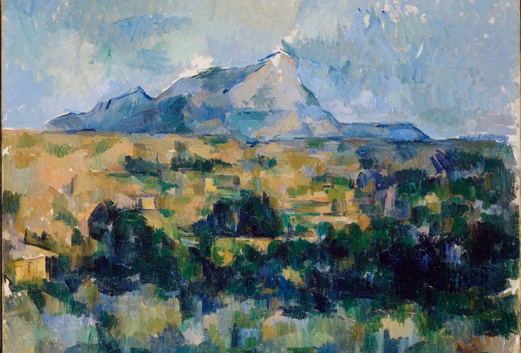 Montagne Ste Victoire vue des Lauves CR 354 - Coll part.jpg