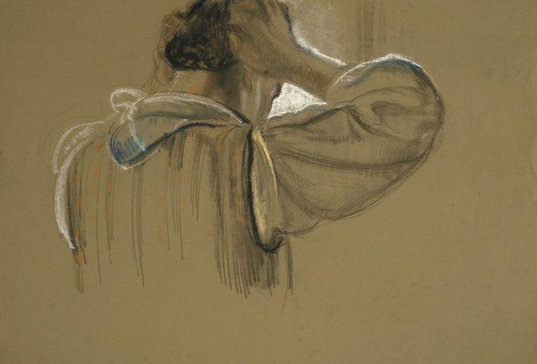Paysanne se coiffant_1912 - copyright JD Rouiller.jpg