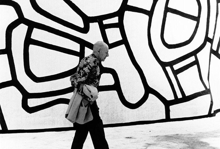 Kurt Wyss, Jean Dubuffet sur la Closerie Falbala, Périgny-sur-Yerres, 3 août 1973