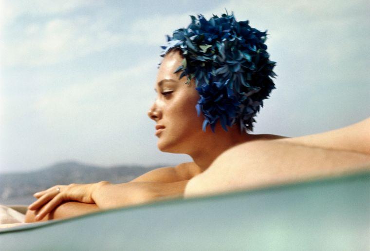 Sylvana Empain, Juan-les-Pins, août 1961 Photographie J.H. Lartigue