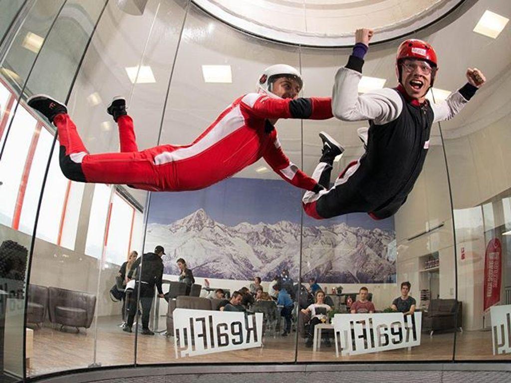 Realfly, simulateur de chute libre à Sion