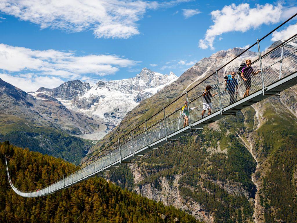 Pont Charles Kuonen - Pont de Randa - Record du pont suspendu piétonnier le plus long du monde