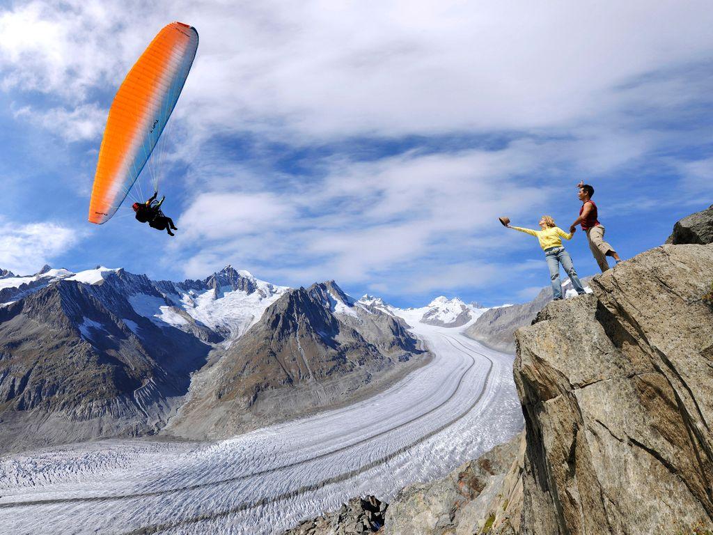 Balade panoramique au grand glacier d'Aletsch Arena