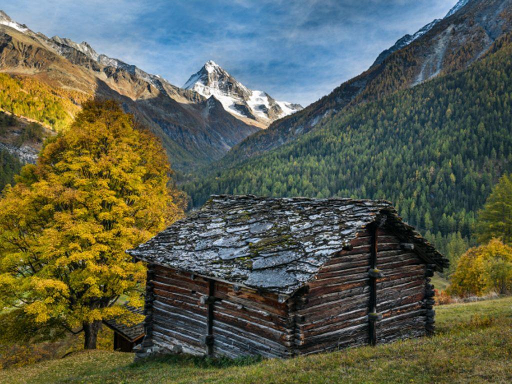 Balade d'automne à Evolène dans le val d'Hérens