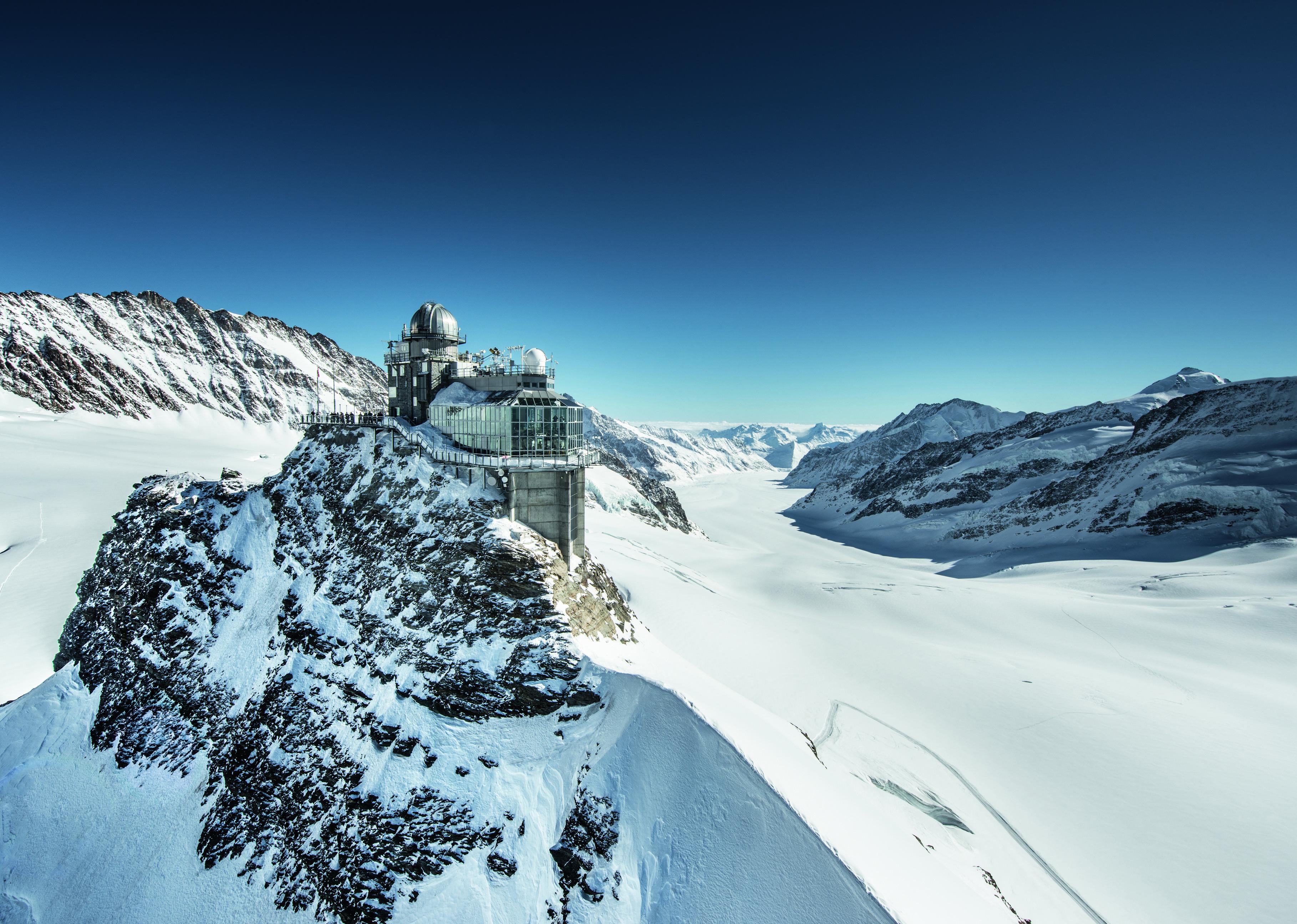Sites hivernaux féeriques de Suisse romande: jungfraujoch