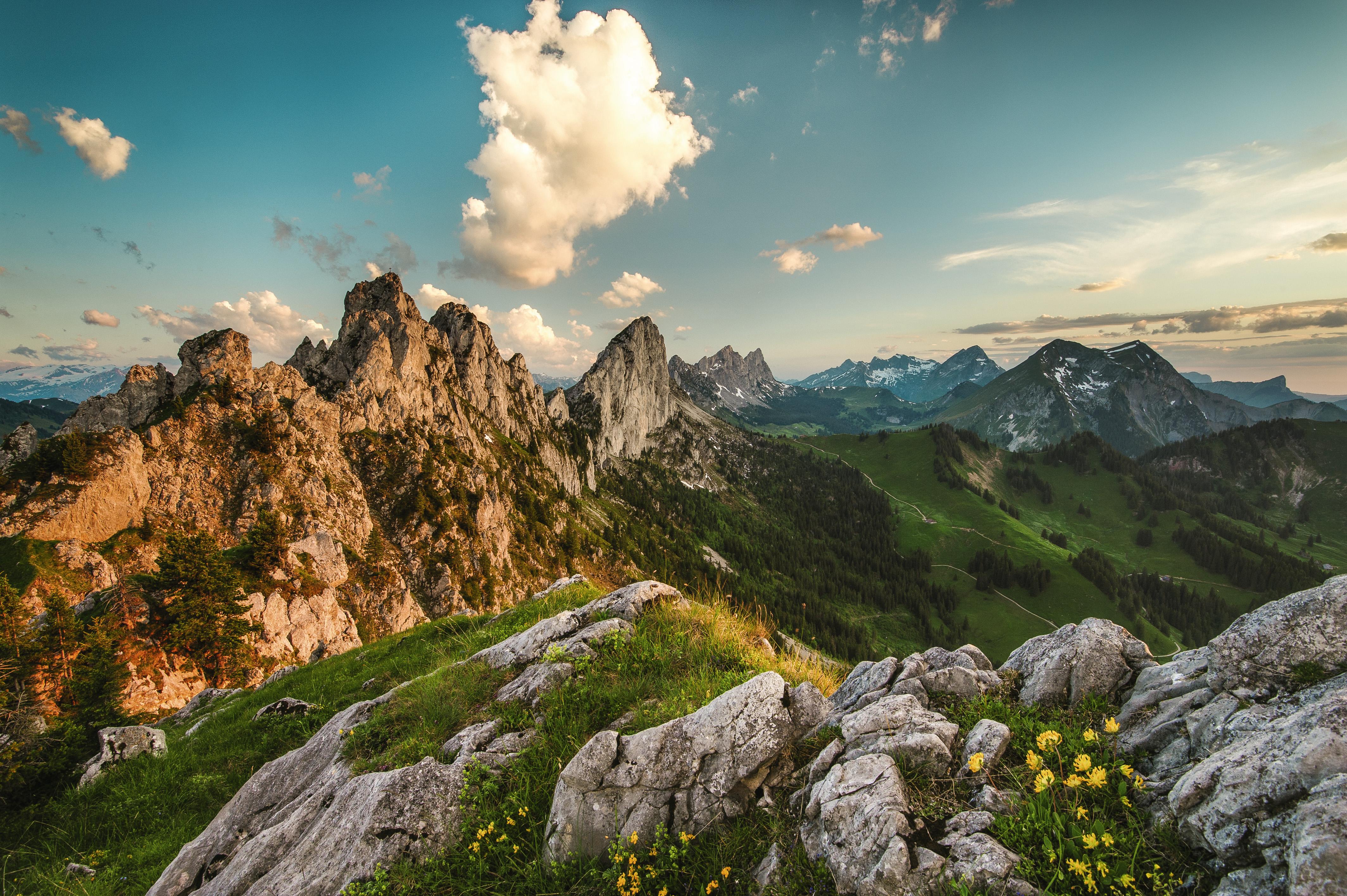 Balade panoramique en Suisse romande - Tour des Gastlosen (Jaun)