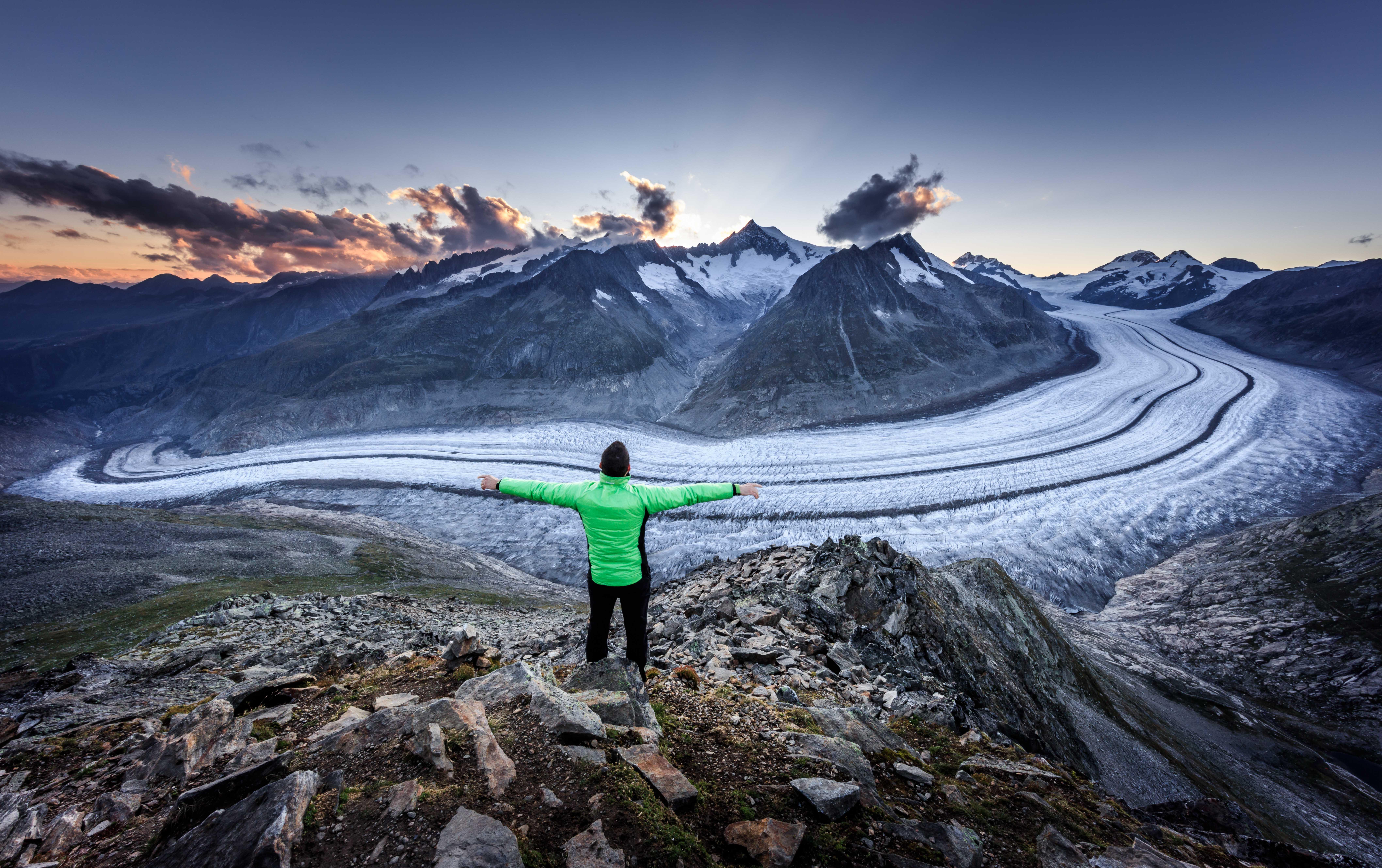 Balade panoramique en Suisse - Grand glacier d'Aletsch - Circuit d'Eggishorn