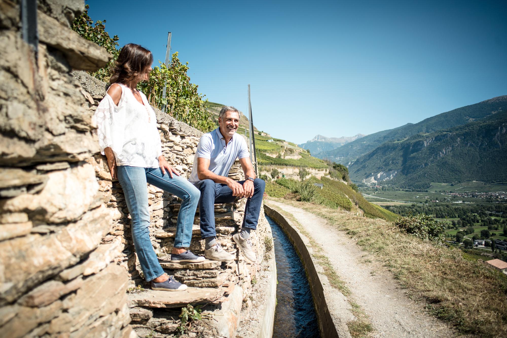 Les plus beaux bisses du Valais - Bisse de Clavau à Sion
