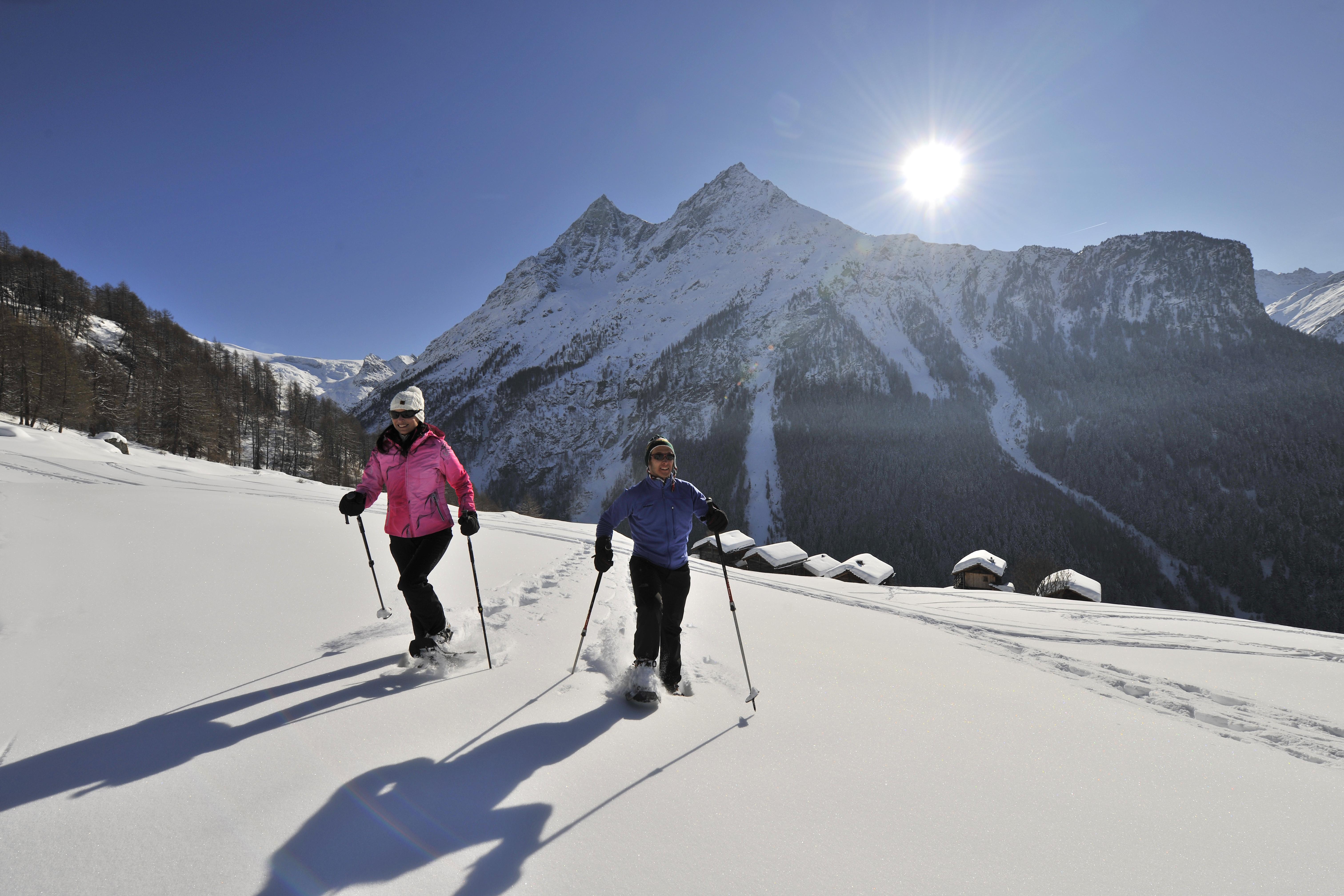 Winterwanderungen im Val d'Hérens