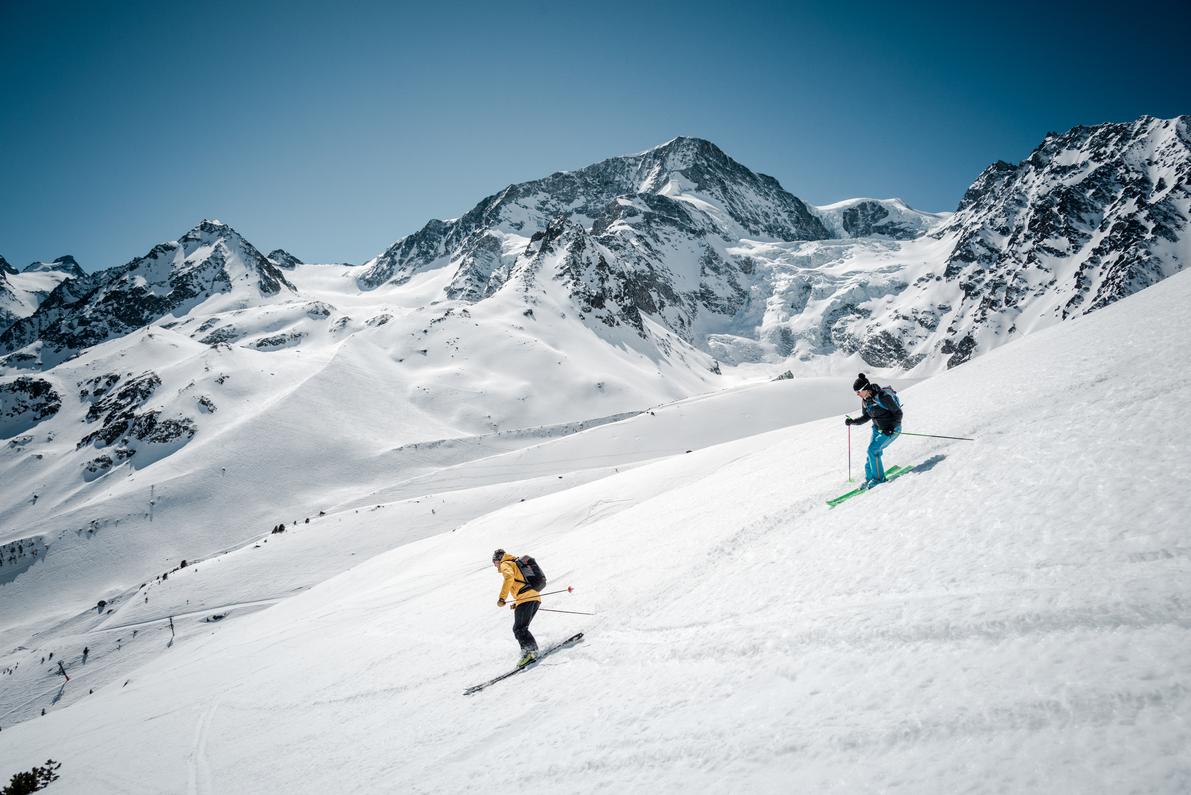 Skifahren im Val d'Hérens