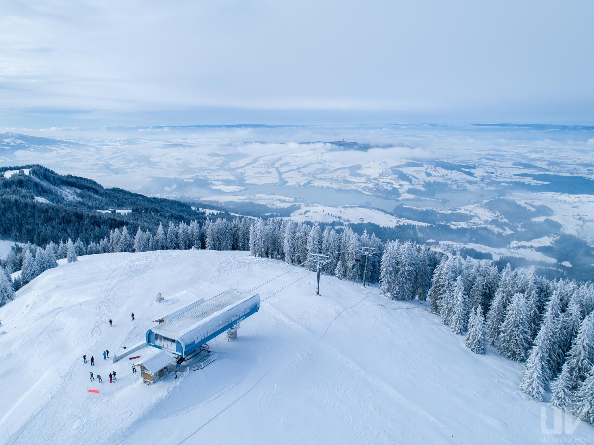 Les meilleures patinoires de Suisse romande - Chemin de glace à La Berra