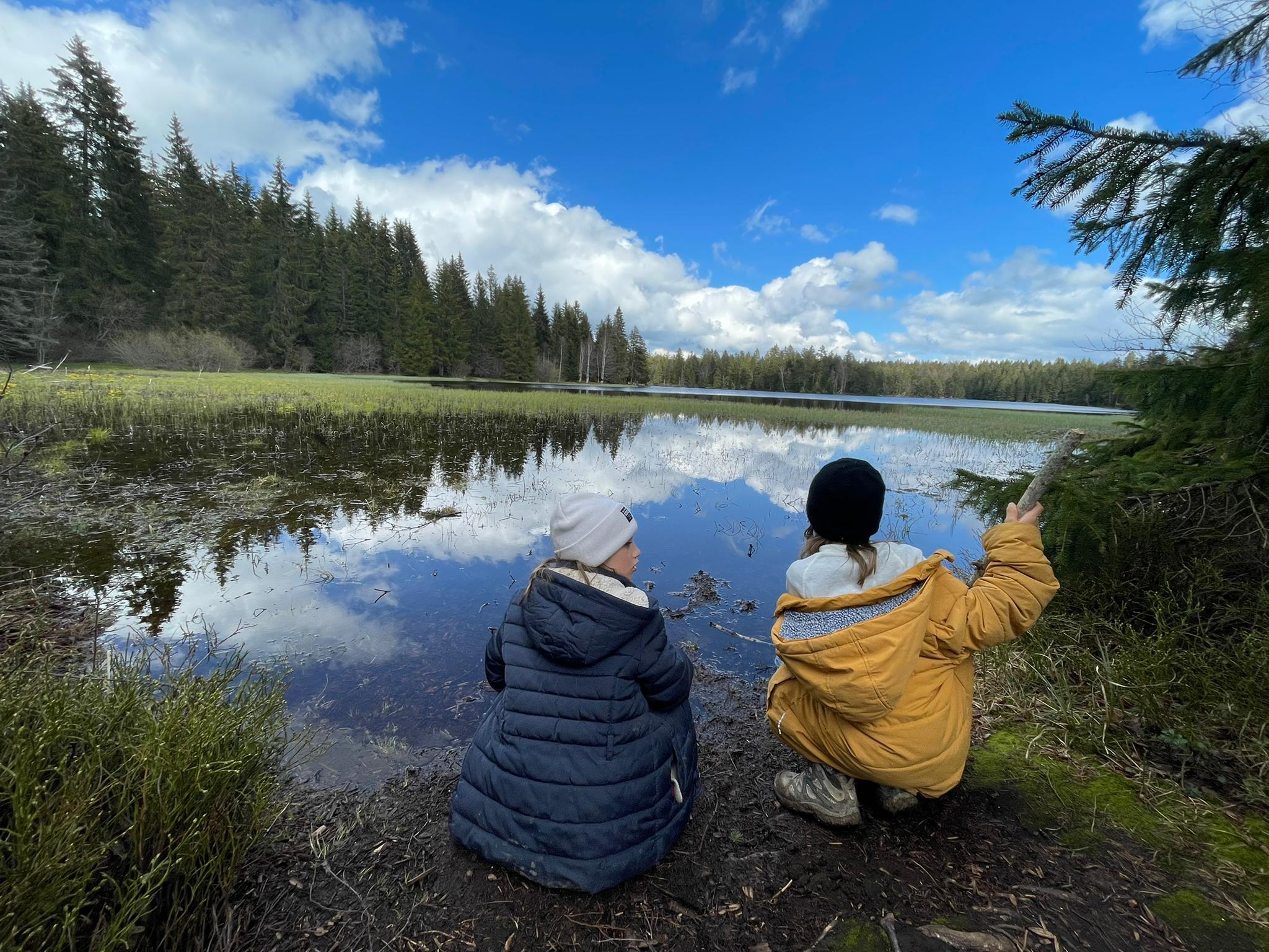 Le voyage de la famille Cavadini: l'étang de la Gruère