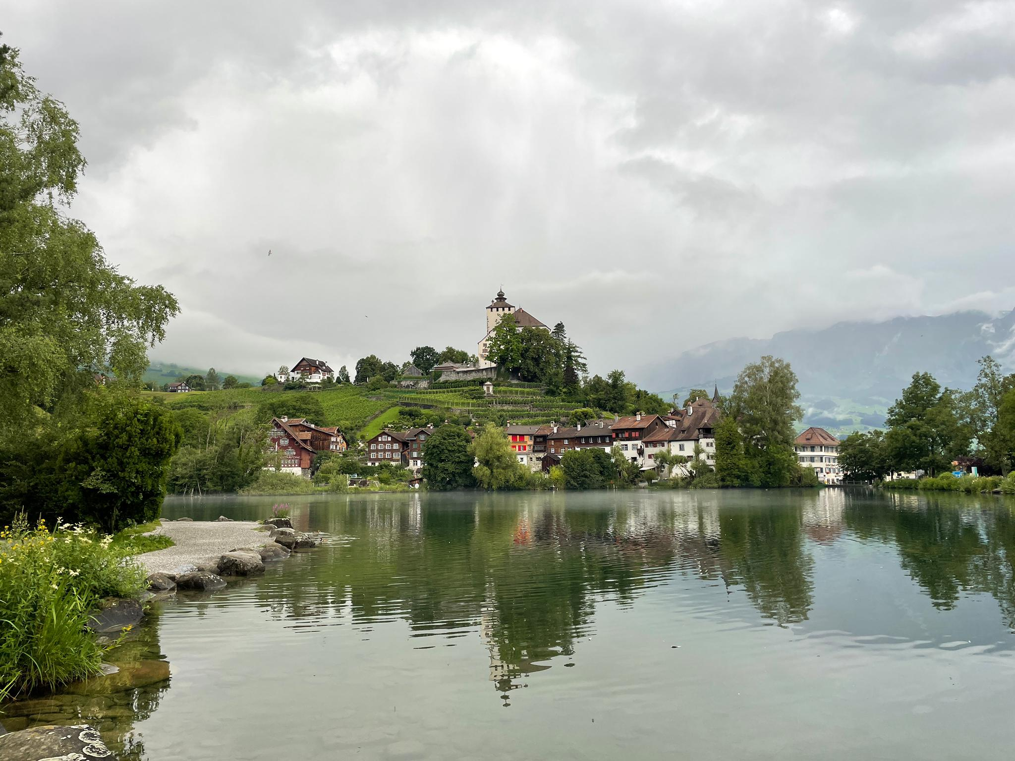Voyage de la famille Cavadini: le village de Werdenberg