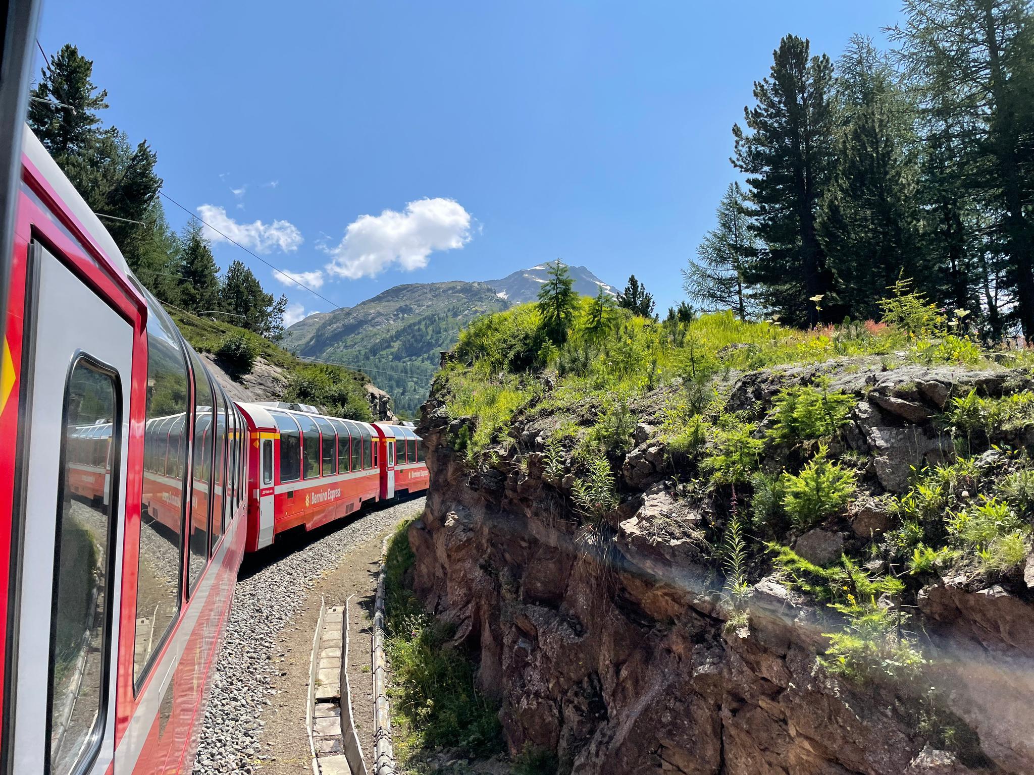 Voyage de la famille Cavadini: le Bernina Express