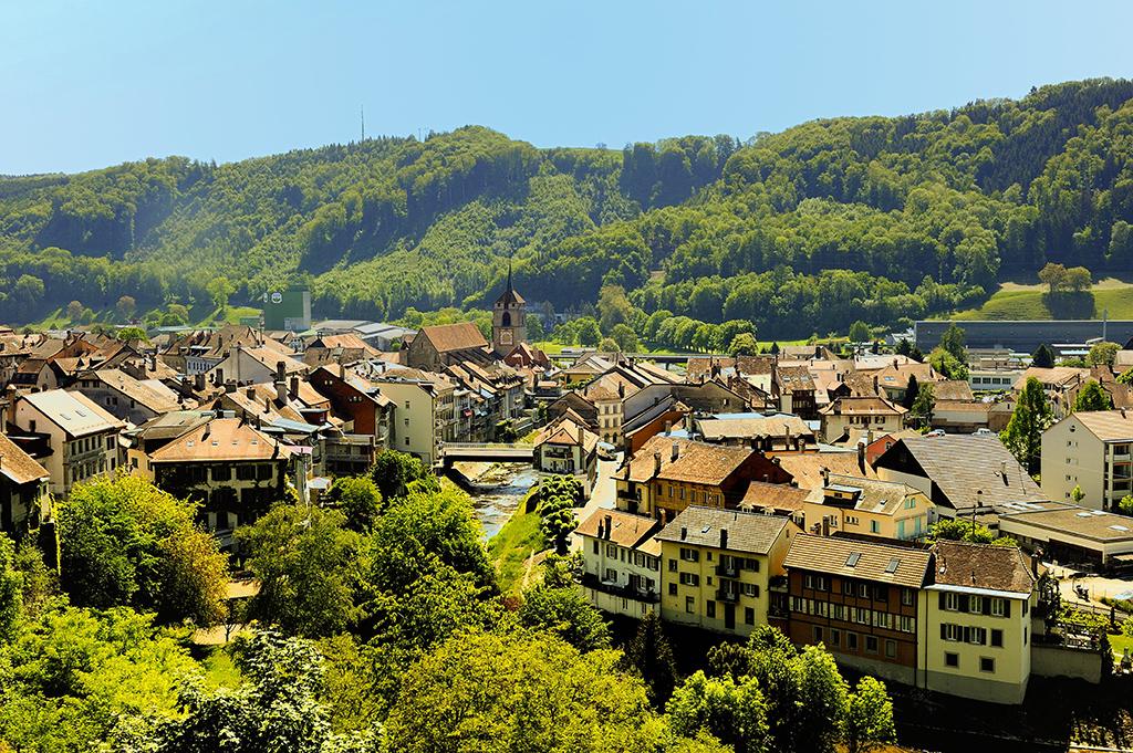 Moudon village Suisse Vaud